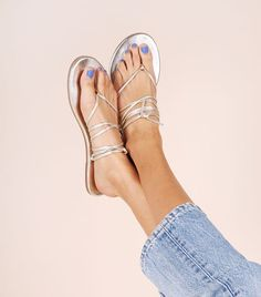 There Are 10 Different Ways to Tie These Chic $65 Sandals via @WhoWhatWearUK