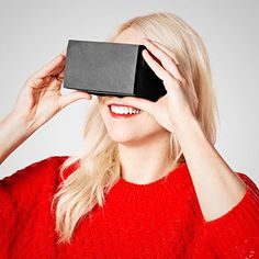 Cardboard 3D VR Virtual Reality Google Headset Movie Games Glasses f Phones IOS ** Click on the image for additional details.Note:It is affiliate link to Amazon.