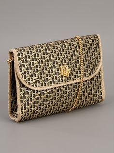 Dior Vintage Evening Bag In Black Gold Accessories Show
