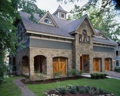 granite and the warm wood of the barn-style doors