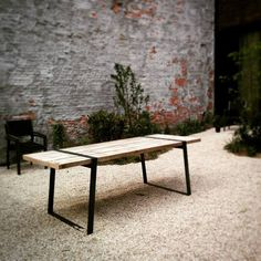 VAK Furniture, Wood, Industrial Decor, Dining Bench, Decor Styles, Table, Home Decor, City Garden, Coffee Table