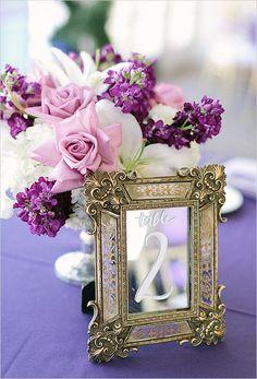 Wedding Ideas: 19 Fabulous Ways to Use Mirrors - wedding table number idea; RomaBea Images via Wedding Chicks