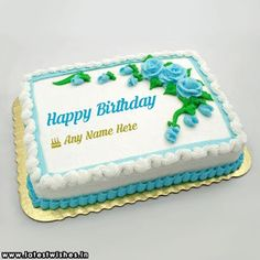 Happy birthday cake with name and photo edit online free Panda Birthday Cake, Happy Birthday Cake Photo, Happy Birthday Rose, Happy Birthday Cake Pictures, Happy Birthday Wallpaper, 60th Birthday Cakes, Happy Birthday Gifts, Birthday Cake Girls, Write Name On Cake
