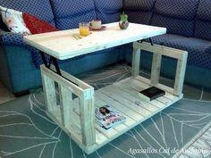 Mesa de centro elevable reciclada de palets | Bricolaje