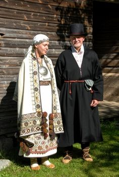 Estonian traditional costume from Paistu village in Viljandi Parish, Viljandi County, Estonia