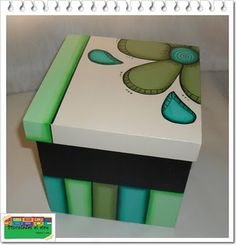Discover thousands of images about Cuadros Madera Mdf Hawaii Dermatology Images Wallpaper Painted Wooden Boxes, Wood Boxes, Wood Crafts, Diy And Crafts, Arts And Crafts, Country Paintings, Pretty Box, Diy Box, Box Art