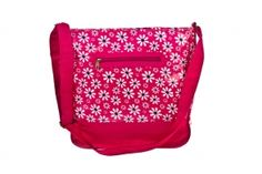 Our popular cross body bag is back in this eye-catching pink daisy design.  See more in the range at http://bewitched-accessories.co.uk