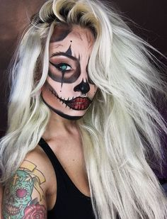 Explore Halloween Makeup Ideas of All Time in this gallery. We share a huge collection of the best Halloween makeup ideas ever shared on internet. Pretty Halloween, Halloween Inspo, Halloween Wigs, Halloween Makeup Looks, Halloween 2018, Maquillaje Halloween 2019, Helloween Make Up, Party Makeup Tutorial, Look Festival
