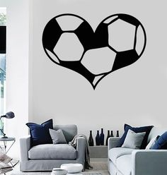Wall Stickers Vinyl Decal Soccer Ball Sports Fans Love ig1314