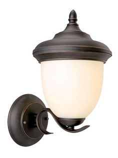 Design House 517680 Trevie Outdoor Uplight Orb Oil Rubbed Bronze