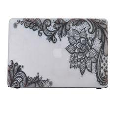 """มาดูอัพเดตราคาล่าสุดกันเลย Premium Plastic Hard Case Lace Pattern Laptop Shell for Apple Macbook Pro 13"""" 7016 - Intl ได้รับการรับรอง คุณภาพดี ราคาถูก  พร้อมส่งทันที"""