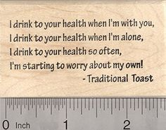St Patricks Day Toast Rubber Stamp I drink to your Health -- Read more at the image link.-It is an affiliate link to Amazon. #PrintingStamping