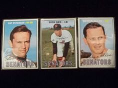 1967 Topps Lot of 3 washington Senators #118,387,403