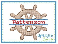 Boat Wheel Applique Split Design