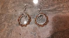 Quick silver and bead earrings.