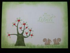 Liebe & Freundschaft - Du machst das Leben schöner - Grußkarte - ein Designerstück von kreativesherzerl bei DaWanda