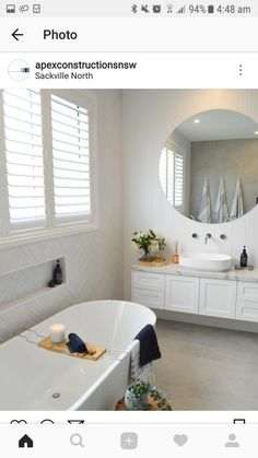 Simple Bathroom Upgrades Ideas For Rental Home Ensuite Bathrooms, Bathroom Renos, Bathroom Layout, Bathroom Renovations, Bathroom Interior, Home Interior, Bathroom Designs, Bathroom Vanities, Bathroom Feature Wall Tile