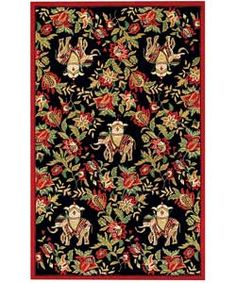 @Overstock - Decorate your living room, bedroom, or office with the exotic style of the Bright Elephant cotton rug Hand-hooked of 100-percent cotton pile Ornate floral elephant motif against a black backgroundhttp://www.overstock.com/Home-Garden/Hand-hooked-Bright-Elephant-Cotton-Rug-4-x-6/1562371/product.html?CID=214117 $69.99