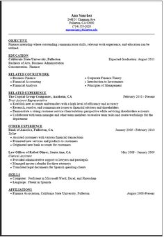 College Resume Format Sample College Student Resume Template  Easy Resume Samples
