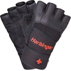 Harbinger Fitness Pro Wrist Wrap Gloves - L Black for sale online Best Weight Lifting Gloves, Sports Training, Keep Fit, Fitness, Leather, How To Wear, Boxing, Coloring Books, December