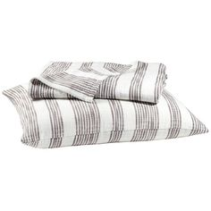 John Robshaw Gull Striped Cotton Coverlet ($200) ❤ liked on Polyvore featuring home, bed & bath, bedding, quilts, john robshaw, cotton bedding, textured bedding, cotton bed linen y striped coverlet