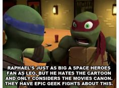 Tmnt headcanons, if someone makes this into a story cause I would love to read it