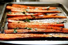 2014 Thanksgiving Balsamic Roasted Carrots - caraway leaves, spiced  #2014 #Thanksgiving #Balsamic #Roasted #Carrots #recipes