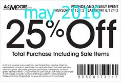Printable Coupons: AC Moore Coupons
