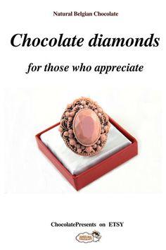 Chocolate Jewerly chocolate ring dessert promise ring jewelry