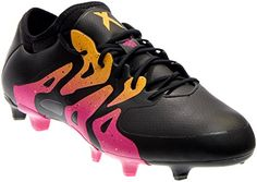 new arrivals 9504e a5421 adidas X 15.1 FGAG Soccer Cleats (Black, Pink) Soccer Shoes,