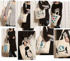 2014 custom printed canvas tote bag/full color custom printed canvas tote bags