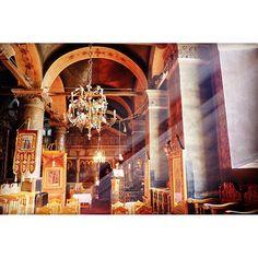 #orthodox #monastery #church #temple #agia_anastasia #Thessaloniki #Greece #light #sunrays #pray #fujifilm_xe2