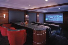 I like the idea of having a place to eat in the back of the home theatre.