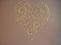 Wire heart with Koru pattern by Sandra McLintock Wire Art, My Arts, Heart, Pattern, Cards, Maps, Model, Wire Work, Patterns