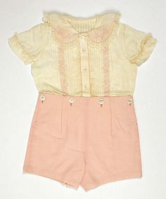 1950's toddlers suit. I just want to gobble it up, it's so delicious.
