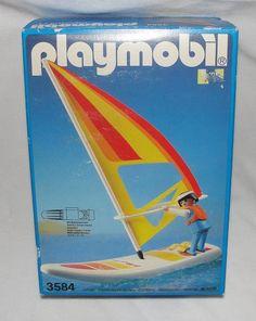 RARE VINTAGE PLAYMOBIL SYSTEM #3584 ~ 1988 UNOPEN ~ WIND SURFER