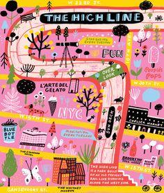 The Highline map by Jordan Sondler