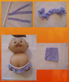 3mara3: Come si fa:....bamboline Diy And Crafts, Crafts For Kids, Arts And Crafts, Fabric Basket Tutorial, Sock Dolls, Soft Sculpture, Doll Face, Doll Accessories, Diy Projects