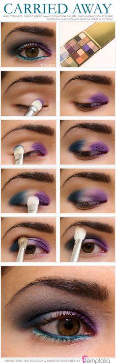 Tutorial #25 Ideas de San Valentin.- Make up Lila azulado