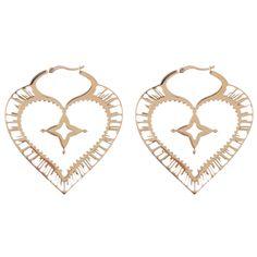 WILDCAT STEEL ROSELINE SACRED HEART EARRINGS