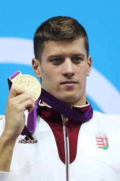 Gold Medalist Dániel Gyurta (Swimming) set a new world record in winning the Olympic 200m breaststroke final in London.   http://www.budpocketguide.com