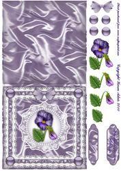 Satin, Pearls, Ribbon 'n Lace Cut & Fold Quick Card