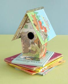 Mod Podge board book house