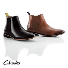 Chelsea Boots mit elastischen Einsätzen und Kontrastrand-Sohle, Clarks Gatley Top, 160,00 Euro: http://www.clarks.de/p/26103021 #HW14