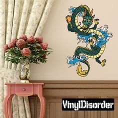 Dragon Wall Decal, Chinese Dragon Wall Art, Vinyl Asian Dragon Wall Decor  Sticker,u0026 Drangon Decal Art #A30 | Wall Decor Stickers, Wall Decals And Wall  Decor