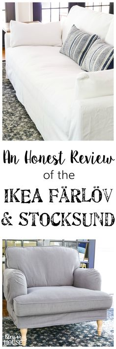 New IKEA Sofa and Chairs and How to Keep Them Clean | blesserhouse.com - A non-biased review of the new IKEA Farlov and Stocksund sofa lines- how comfortable they are, if they're worth the price, and how to keep them clean. #sofa #ikea