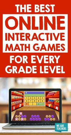 The Best Online Interactive Math Games for Every Grade Level - Online Courses - Ideas of Online Courses - The Best Online Interactive Math Games for Every Grade Level K through 12 it all adds up to fun! Math Games For Kids, Fun Math, Math Help, 7th Grade Math Games, Learning Games, Educational Games, Games Online For Kids, Good Math Games, Math Games Online