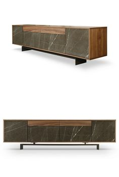 Sideboard with doors with drawers GRAMMI by TCC Whitestone | #design Fabio Teixeira, Sérgio Costa #marble