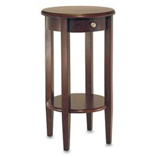 As a bedside table? Round Telephone Stand with Drawer - Bed Bath & Beyond