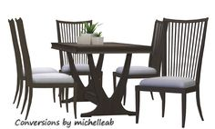 Sims 4 CC's - The Best: Dining Set Conversion by Michelleabstuff